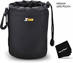 Xtech Medium Soft Neoprene Lens Pouch for Canon, Nikon, Fuji, Leica, Sony, Panasonic, Pentax, Sigma, Tamron, Vivitar, Konica & Minolta Lenses