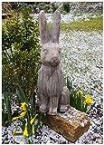 F & G Fournitures Charmant Grande Sculpture de Jardin en Forme de Lièvre dans Une...