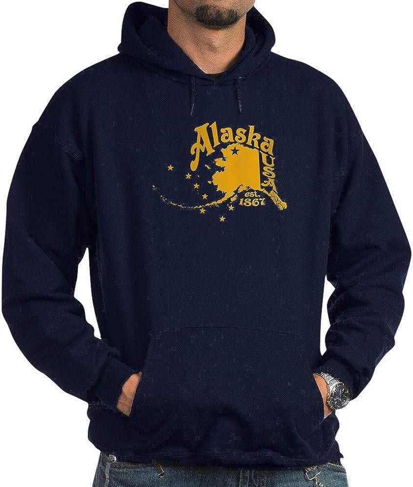 CafePress Alaska Super-cheap 1867 Gold Dark Sweatshirt Hoodie Max 57% OFF