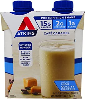 Atk Rtd Shake Cafe Crmal Size 44z Atkins Ready To Drink Shake Cafe' Carmel (1 Case of 4 Shakes)