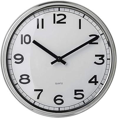 Digital Shoppy IKEA Wall Clock, Stainless Steel