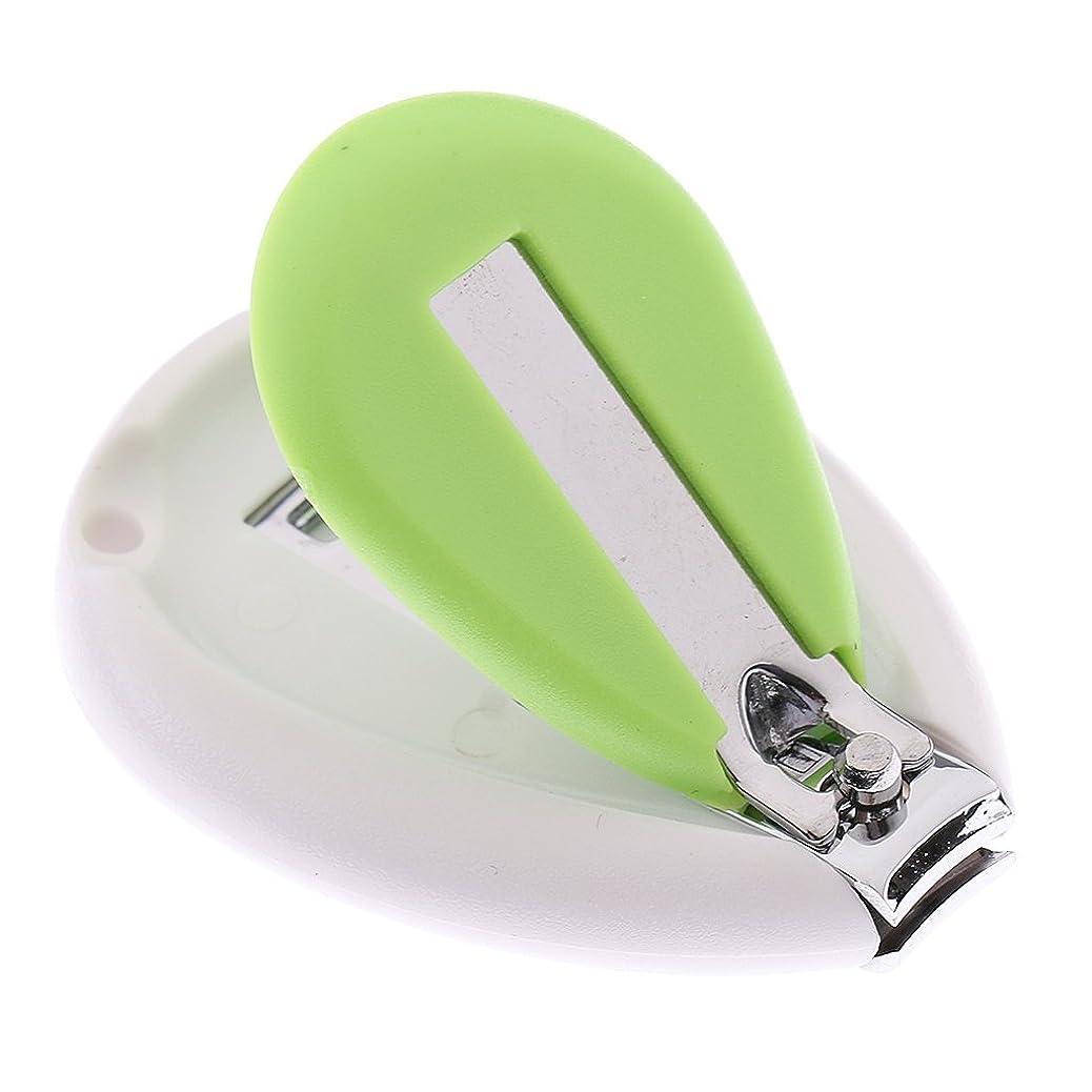 約設定マトロン二度Perfk ベビーネイルクリッパー 子供 安全クリッパー 爪切り 全3色 - 緑