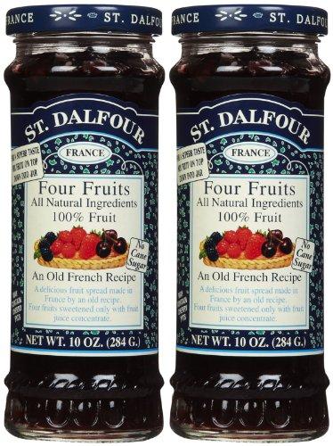 St. Dalfour Four Fruits Conserves, 10 oz, 2 pk
