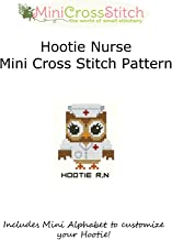 Hootie Nurse Mini Cross Stitch Pattern