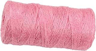 1 Roll 2MM Jute Schnur Bindfaden Paketschnur Packschnur für DIY Handwerk, Länge: 100M - Rosa