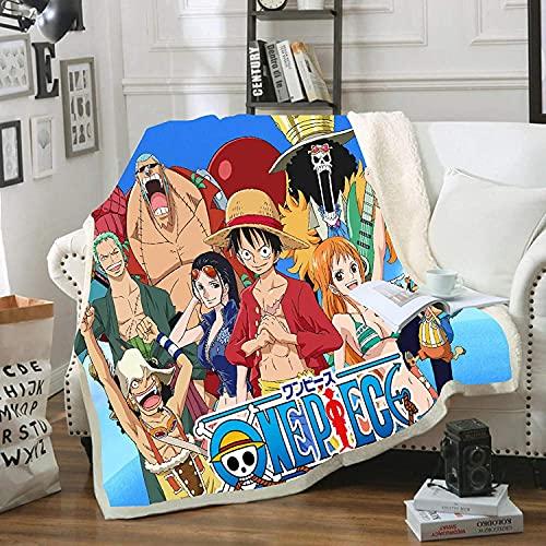 Proxiceen One Piece Luffy Couverture en flanelle duveteuse personnalisable en microfibre Couverture de voyage (150 x 200 cm)