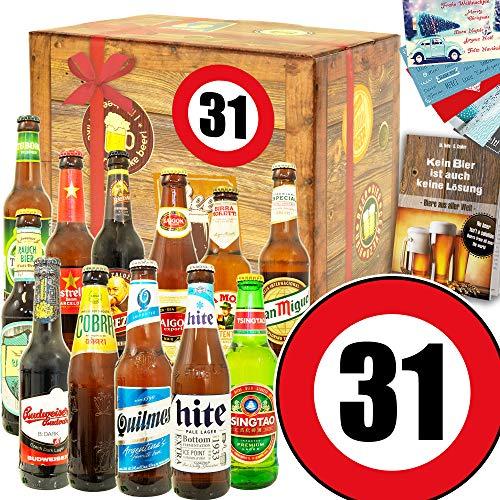 Geschenk zum 31. / 12 Biere aus aller Welt/Zum 31 Geburtstag für Männer