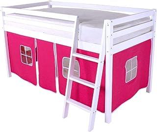 comprar comparacion HLS - Tienda de campaña para litera de cabina, color rosa