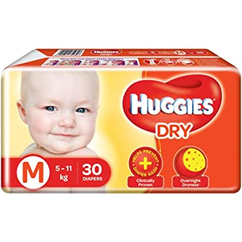 Huggies New Dry, Taped Diapers, Medium Size, 30 Count