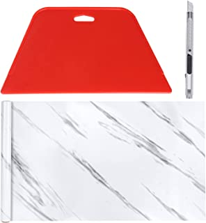 """11.8"""" x78.7""""Marble Paper Granite Gray/White Roll Kitchen Countertop Cabinet Furniture is Renovated Thick Wallpaper PVC and..."""