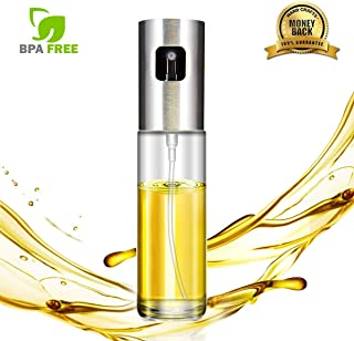Olive Oil Sprayer Mister,Food-grade Glass Bottle Oil and Vinegar Dispenser for BBQ, Making Salad, Cooking, Kitchen Baking, Roasting, Grilling,Frying