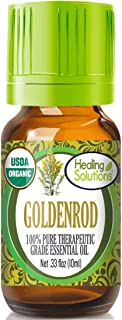 Organic Goldenrod Essential Oil (100% Pure - USDA Certified Organic) Best Therapeutic Grade Essential Oil - 10ml