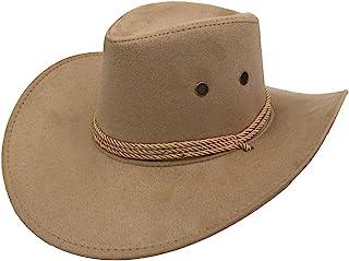 11e0ca6af6c74 Sandy Ting Men s Outback Faux Felt Wide Brim Western Cowboy Hat