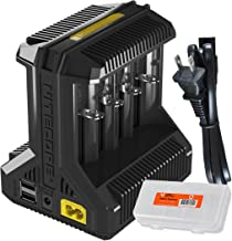 Nitecore i8 Intelligent Multi-slot Charger with USB Output for Li-ion/IMR / Ni-MH/Ni-Cd 26650 22650 18650 18490 18350 17670 17500 16340 RCR123 14500 10440 AA AAA C D and LumenTac Battery Organizer