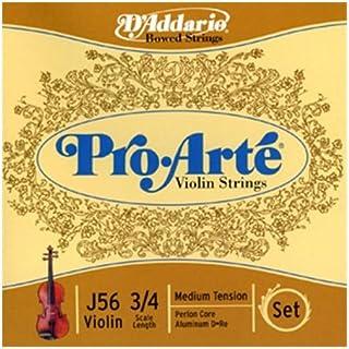 D'Addario Pro-Arte Violin String Set, 3/4 Scale, Medium Tension