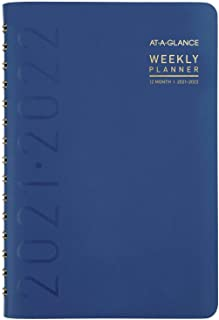 """$20 » Academic Planner 2021-2022, AT-A-GLANCE Weekly & Monthly Book Planner, 5"""" x 8"""", Small, for School, Teacher, Student, Conte..."""