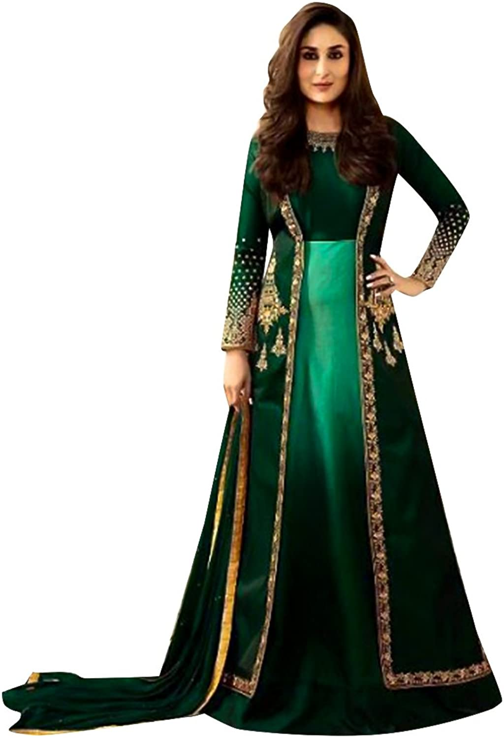 Bollywood Collection Anarkali Salwar Kameez Suit Ceremony Punjabi Muslin Eid 564