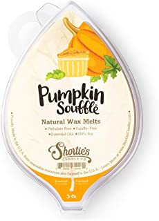 Pumpkin Souffle All Natural Wax Melts - 1 Highly Scented 3 Oz. Bar - Made with Responsibly Sourced Soy and Essential Fragrance Oils - Phthalate & Paraffin Free, Vegan, Non-Toxic