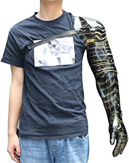 Superhero Mens Bucky Arm Winter Soldier Arm Halloween Cosplay Costume Props Latex
