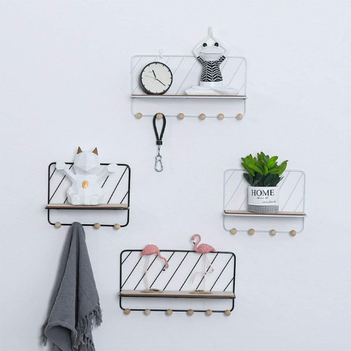 DFYYQ Wall Mounted Wire Metal Unit Floating R Shelves Shelf Louisville-Jefferson County Mall Wood New York Mall