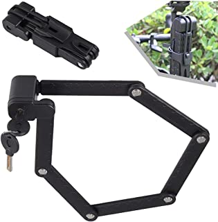 Folding Bike Lock, Heavy Duty Alloy Steel Bike Chain Lock for MTB Road Bike Foldable LockAnti-Theft Strong Security Bicyc...