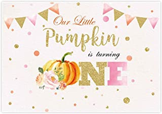 Cut We Print Our Little Pumpkin is Turning One Glue /& Ship Little Pumpkin First Birthday Invitation with Envelopes.