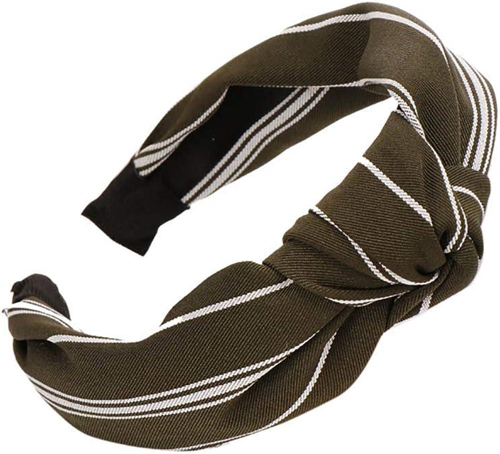 LODDD Fashion Bow Knot Hairband Women Stripe Hair Head Hoop Simple Sweet Girls Hair Headband