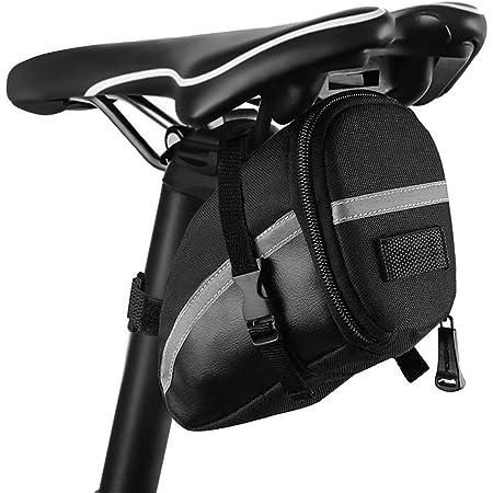 Mountain Bike Borsa da Sella per Bicicletta Borsa Sottosella 16 in 1 Attrezzo Multifunzione da Bici con Kit di Patch e Leve del Pneumatico,Adatto a Biciclette