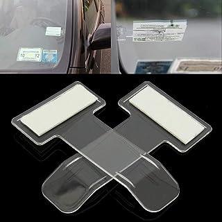 Jujudada 2pcs Car Invoice Ticket Folder Vehicle Parking Ticket Permit Holder Clip Sticker Auto Windscreen Window Holder