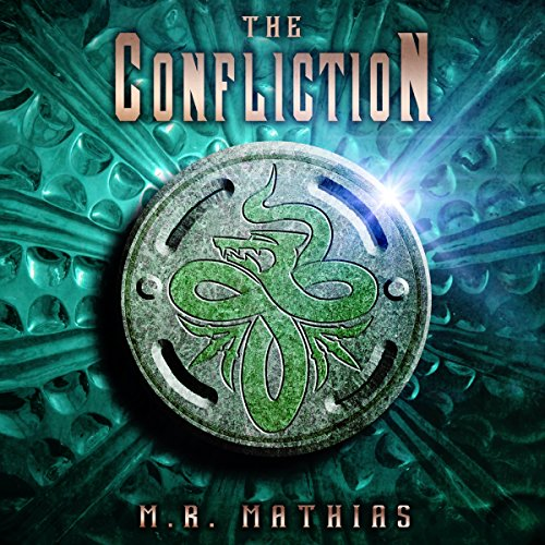 The Confliction     The Dragoneer Saga, Book 3              By:                                                                                                                                 M. R. Mathias                               Narrated by:                                                                                                                                 Christine Padovan                      Length: 4 hrs and 49 mins     1 rating     Overall 5.0