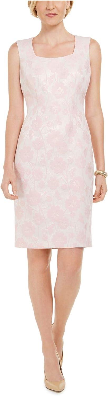 trust Kasper Special price Women's Floral Metallic Square Neck Dress Jacquard