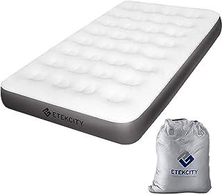ETEKCITY Colchón Hinchable Unisex Adult EAM-ET2 para 1 Persona, colchón Hinchable con Bolsa de Transporte, 191 x 99 x 23 cm, Color Blanco, Individual