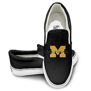 HYRONE University Of Michigan Ann Arbor Unisex Footwall Canvas Shoes Sun Black