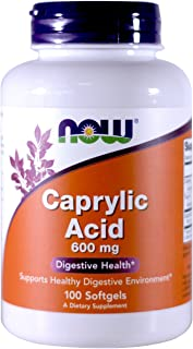 Now Foods Caprylic Acid 600mg, 100 Softgels - (Pack of 2)