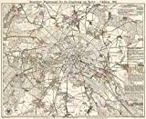 MAP Antique 1888 STRAUBE Berlin Taxi CAB PLAN Large Replica