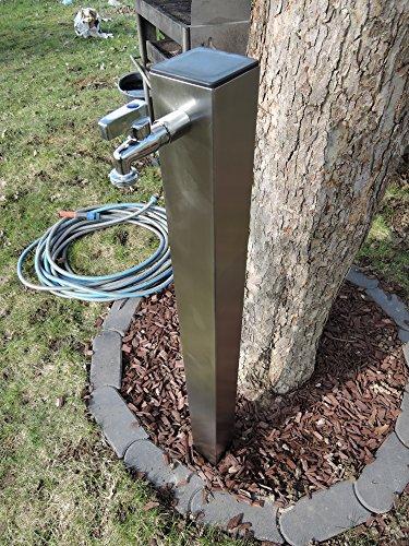 SchneckMetall Wasserzapfstelle Edelstahl Wassersäule Wasserverteiler 100cm WSQ8010