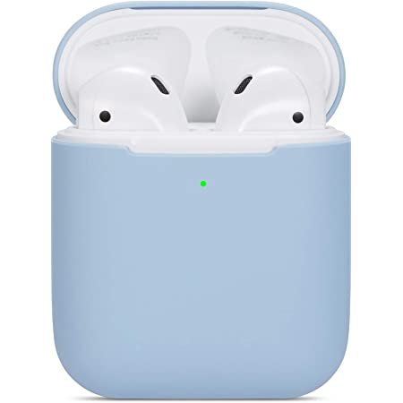 Amazon Com Compatible Airpods Case Protective Ultra Thin Soft Silicone Shockproof Non Slip Protection Accessories Cover Case For Apple Airpods 2 1 Charging Case Light Blue Electronics