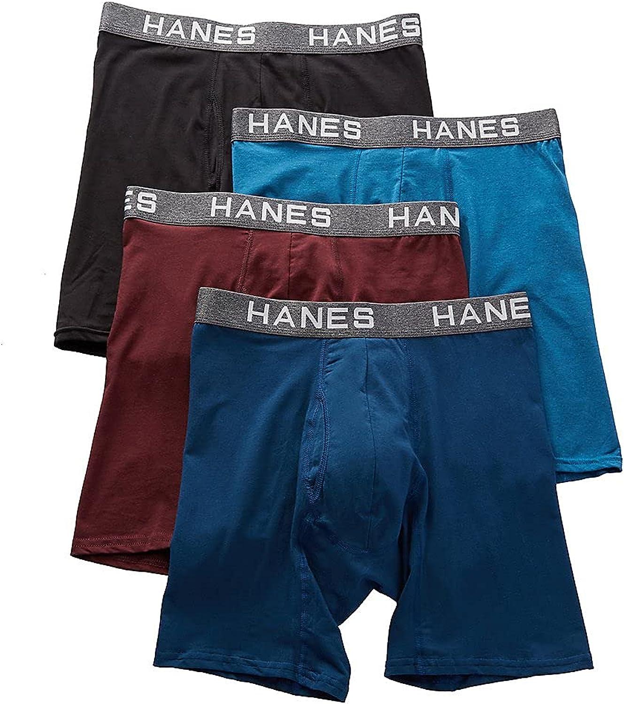 Hanes Platinum ComfortFlex Fit Boxer Briefs Blue/Teal/Plum/Black 1 SM