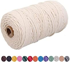 Ann Bully Beige Macrame Cord DIY Natural Yarn Cotton Macrame Rope 3mm Cotton Cord Cotton Yarn Twine String Cord for DIY Wa...