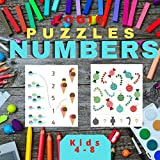 Logic Puzzle Numbers: Easy Coloring Games for Clever Kids ages 4-8, Toddlers, Brain Quest Preschool Kindergarten, Pre-Math, Wide Paths, ... Boys and Girls for Christmas or Birthday