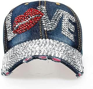 USA Bling Baseball Cap, Sparkle Rhinestone American Flag Hat Hat 4th July Summer Sun Cap