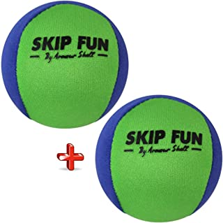Water Balls Bounce On Water - Pool Ball & Beach Toys for Kids & Adults. Extreme Skipping Fun Games Everyone Will Love. Skip While Swimming, at the Lake, and Keep Toddlers / Older Kids Having a Blast.