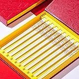 China China China China, Patrón De Flores De Pielin De Porcelana Reutilizable, Chopsticks Antideslizante Conjunto De Regalo Con Caja, Lavavajillas Caja Fuerte, Largo G