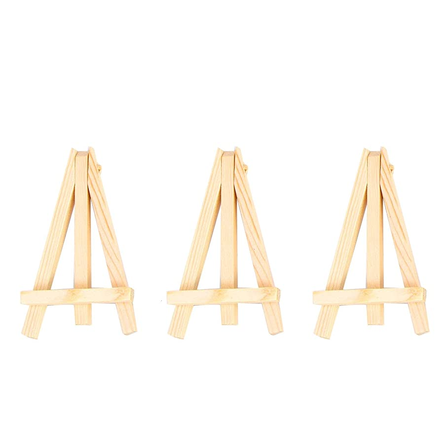 Monrocco 12 Pack 5 Inch Mini Wooden Artist Easel Tripod Business Card and Photo Display Easel