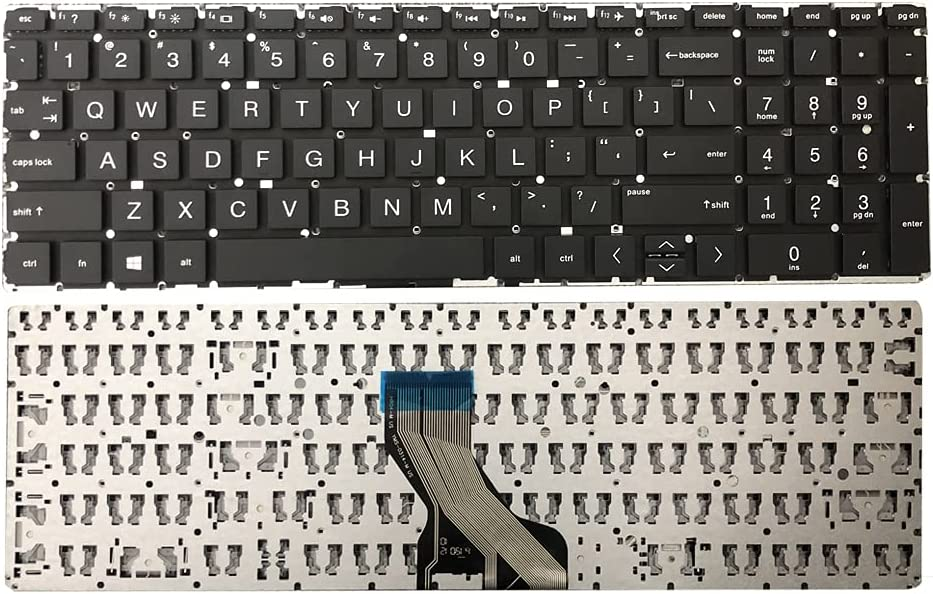 GinTai Laptop US Keyboard Replacement for HP 15-dy1076nr 15-dy1078nr 15-dy1085nr 15-dy1086nr 15-dy1062nr 15-dy1071wm 15-dy1073nr 15-dy1074nr(No Backlit Black)