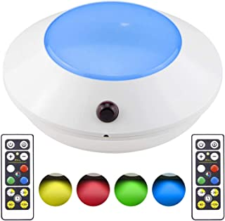 BIGLIGHT Outdoor Color Changing Led Stage Lighting, RGB Smart Floodlights with 2pcs Remote Control Dimmer 4 Modes Fairy Li...