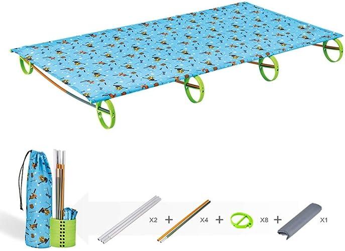 ZOUQILAI Lit Ultra-léger portatif de Camping Enfant de Remplacement en Aluminium de Sommeil pour Sac à Dos de Tente, Voyage en Plein air de la Jeunesse d'adultes, randonnée de pêche