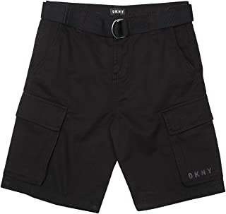 Boys' Casual Summer Belted Twill Cargo Shorts