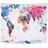 XXGI Wohnzimmer Dekoration Tapisserie Vintage Welt Karte Tapisserie Wandbehang Mandala Indische Tapisserien Hippie Druck Tapisserie Picknick Strand Blatt Tischdecke -