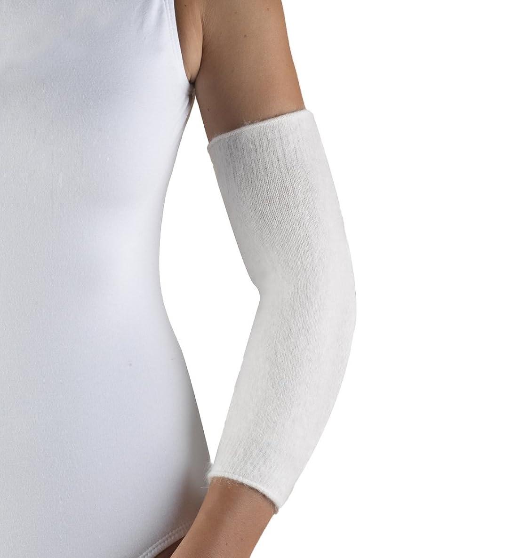 OTC Elbow Warmer Angora Arthritis Relief, White, Medium